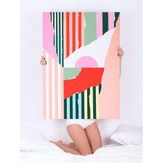 "Happy 2016 & good morning!  ""Abstract Num.52"" Acrylic on wood, 78x108cm 2016 Bcn   #mireiaysuscosas #cocolia #colormadefrombarcelona #mireiaruiz #painting"