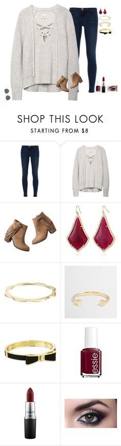 """♡♡"" by mgpayne10 ❤ liked on Polyvore featuring J Brand, maurices, Kendra Scott, Kate Spade, J.Crew, Essie, MAC Cosmetics, women's clothing, women's fashion and women"