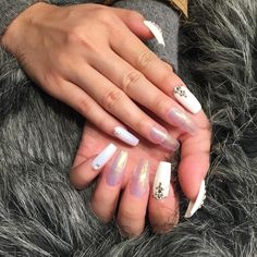 awesome 40 Dazzling Ways to Style White Nails – Topnotch Nails Check more at http://newaylook.com/best-ways-to-style-white-nails/