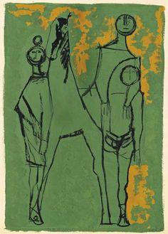 """kundst: """"Marino Marini (It. 1901-1980) """"The Family"""" (1957) """""""