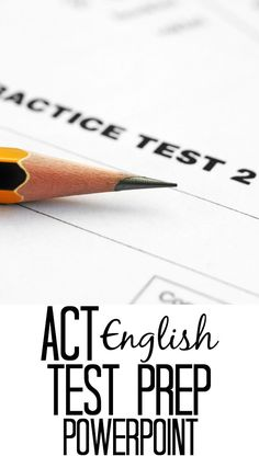 ACT English test prep power point. 126 slides to review for the English portion of a standardized test.