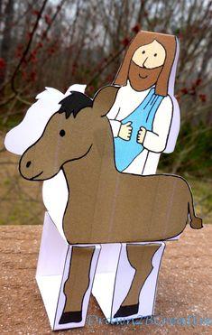 Palm Sunday - Jesus on a donkey