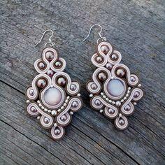 Soutache Bracelet, Soutache Jewelry, Bead Jewellery, Boho Jewelry, Bridal Jewelry, Beaded Jewelry, Handmade Jewelry, Beaded Brooch, Beaded Earrings