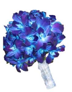 blue wedding flowers  myfloweraffair.com