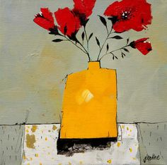 Artwork of Glendine exhibited at Robertson Art Gallery. Original art of more than 60 top South African Artists - Since Kunstjournal Inspiration, Art Journal Inspiration, Gcse Art Sketchbook, Yellow Vase, African Artists, Irish Art, Painting Still Life, Abstract Flowers, Watercolor And Ink