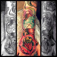 Tattoo done byDavid Tevenal. @davetattoos