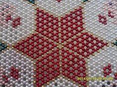 free seed bead patterns for doilies Seed Bead Patterns, Beading Patterns, Cross Stitch Designs, Cross Stitch Patterns, Crochet Bedspread Pattern, Diy Choker, Bead Jewellery, Beading Tutorials, Loom Beading
