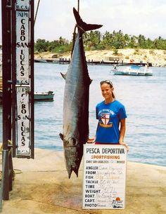 CABO SAN LUCAS, MEXICO     Wahoo (Acanthocybium solandri)  All-tackle  184 pounds  Cabo offshore  July 2005  Sara Hayward  Bait/lure: Mean Joe Green