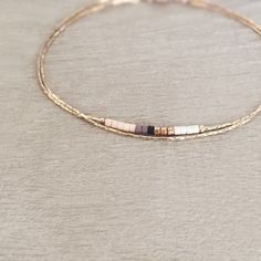 Minimalist Delicate Rose Gold Bracelet with Tiny Beads // Thin Dainty & Colorful Bracelet // Multicolor Boho Friendship Bracelet #GoldJewelleryBracelet #goldbracelet