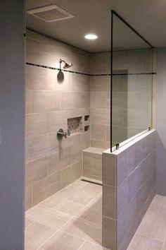 Bathroom Design Luxury, Modern Bathroom Design, Contemporary Bathrooms, Modern Design, Shower Remodel, Bath Remodel, Demis Murs, Showers Without Doors, Modern Bathtub