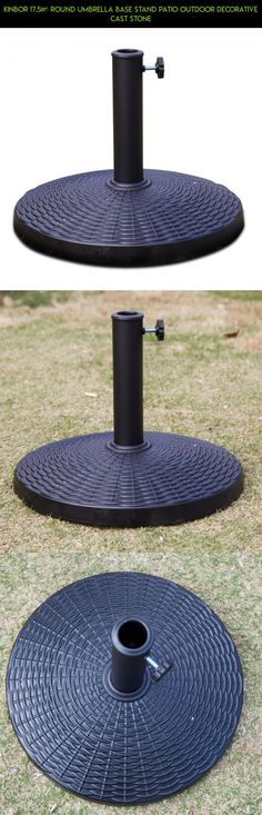 """Kinbor 17.5"""" Round Umbrella Base Stand Patio Outdoor Decorative Cast Stone #products #decor #camera #plans #outdoor #shopping #drone #umbrella #kit #fpv #racing #gadgets #parts #tech #technology"""