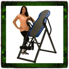 "Inversion Table Deluxe Curved Chiropractic Fitness Exercise & Back Reflexology System Tables Therapy Gravity Hang Relief Ups Pain Teeter New Ironman Folding Foldable up Boots Home Gym Yoga Gyms Workout Sporting Goods Strength Training Relaxation Cardiovascular Equipment Health Care Guarantee - It Only Comes Along with Our Company's Ebook. Steel frame with .75-inch foam padding. Inverts to a full 180 degrees - Accommodates users 4'10"" to 6'6"" tall; up to 275 lbs. Strap-adjustable inversion..."