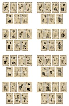 Printable Steampunk Playing Cards by ~VectoriaDesigns on deviantART