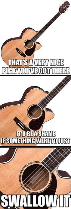 This is all too real. Guitar problems...  i cant even count the times ive dropped mine in the whole and just left it there