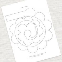 FREE paper rose template
