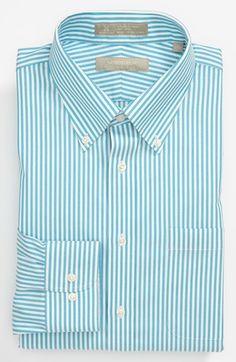 f4e1d43be Nordstrom Men's Shop Smartcare™ Wrinkle Free Trim Fit Stripe Dress Shirt |  Nordstrom
