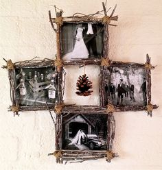 Twigs & Twine Collage Frame by CleverMakings on Etsy, €39.00