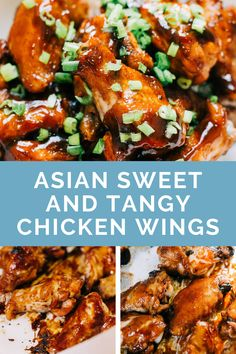 Asian Sweet and Tangy Sticky Chicken Wings