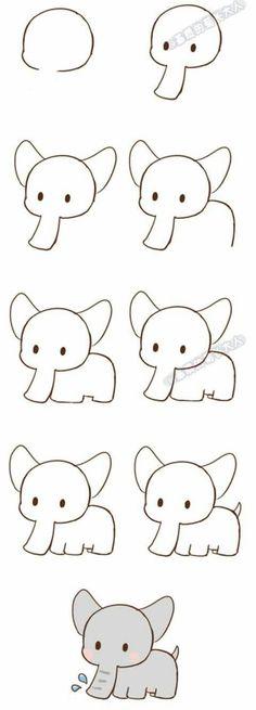 simple doodles step by step & simple doodles . simple doodles step by step . Kawaii Drawings, Doodle Drawings, Cute Drawings, Pencil Drawings, Easy Drawing Tutorial, Drawing Tutorials For Beginners, Art Tutorials, Simple Drawings For Beginners, Simple Drawings For Kids