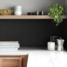 Subway Tile Colors, Black Subway Tiles, Black Tiles, Black Kitchen Floor Tiles, Black Bathroom Floor, Black Tile Bathrooms, Subway Tile Patterns, Hall Bathroom, Color Tile