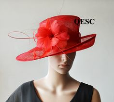 acd71fd8ff6 Red sinamay hat for Kentucky derby wedding party races. Pamela Scott  Fascinating Fascinators