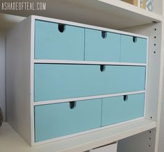 Another IKEA Update- Moppe Organizer Makeover | A Shade Of Teal
