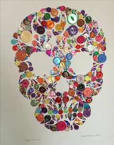 Skull button art