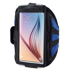 Phone arm band - SODIAL(R)For Samsung Galaxy S6 S5 Sport Arm Band From Mobile Network New homes Blue. Made of high quality material in lightweight nylon with a transparent protective plastic membrane for the screen. Case flexible and light bracelet, provide full protection for the phone and the screen edge. Convenient and secure protection during transit and during the exercises. The belt is adjustable and good feeling. Easily removable and washable.