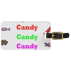 candy candy candy luggage tag - thanksgiving day family holiday decor design idea