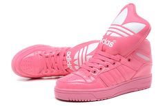 Adidas High Tops for Girls | High Tops Adidas Shoes Women's/Girls Big Tongue All Pink : adidas ...