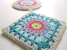 Granny style crochet potholders