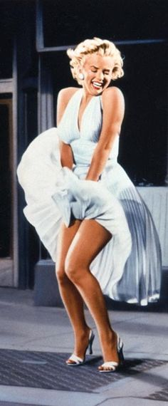 Iconic photo image of the Hollywood actress and sex symbol Marilyn Monroe.