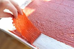 Make fruit leather out of leftover juicing pulp!