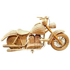 Massive Rattan And Wicker Harley Davidson Motorcycle