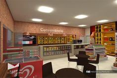 1|2 AUTO POSTO NOVA ITÁLIA - Estudo preliminar de Arquitetura de Interiores para loja de conveniência em Nova Itália, Urussanga - SC