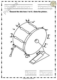 Drum set coloring page ADULT