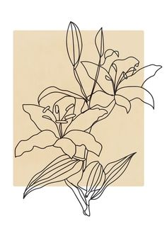Abstract Line Art, Plant Painting, Minimalist Art, Minimalist Bedroom, Line Drawing, Flower Art Drawing, Wall Drawing, Sketch Art, Art Inspo