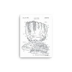 1961, Latina Baseball Glove Patent-Canvas Print