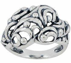 Carolyn Pollack Tango Sterling Band Ring