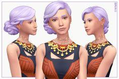 Claudette Hair by WMS via blogspot I Maxis Match I Sims 4