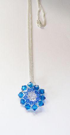 Sparkly starburst swarovski pendant by VirtuallyVintagebyK on Etsy, £15.00