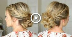 Lace Braid Homecoming Updo - New Site Braided Hairstyles Updo, Braided Updo, Diy Hairstyles, Hairstyles Videos, Holiday Hairstyles, Hairstyles 2018, School Hairstyles, Flapper Hairstyles, Volume Hairstyles