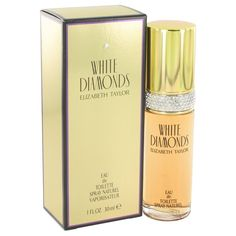 1 oz Eau De Toilette Spray Item #402474   White Diamonds Perfume by Elizabeth Taylor, White diamonds once again shows her exceptional sense of style.this sophisticated floral has notes of italian neroli, living amazon lily, egyptian tuberose, turkish rose, italian orris, living narcissus, livi...