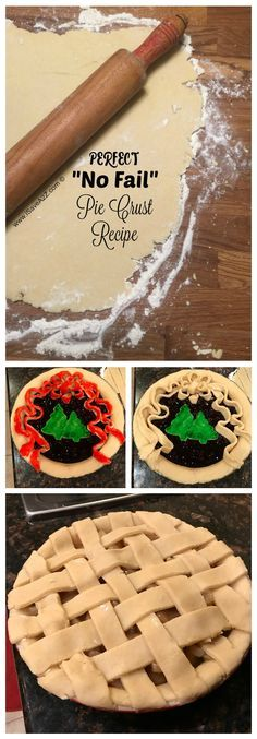 Here's to a PERFECT crust every single time! No Fail Pie Crust Recipe with Painted Crust
