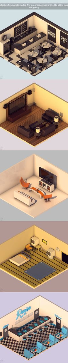 Isometric Models on Behance