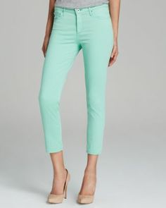 AG Adriano Goldschmied Jeans - Exclusive Prima Crop in Mint Green  Bloomingdale's