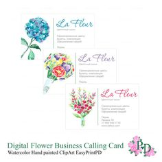 89 Best Business Cards Images Paint Beautiful Flowers Collage