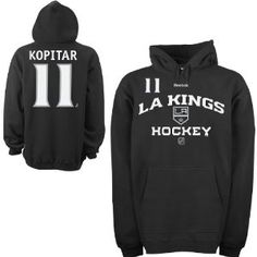 Reebok Los Angeles Kings Anze Kopitar Authentic Team Hockey Player Hooded Sweatshirt, out of stock everywhere online. I want this sweatshirt so badly! Even a Brown, Quick, Doughty, or blank version would be cool.