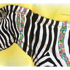 #animorphia #kerbyrosanes #adultcolouring #adultcoloringbook #litabók #litabókfyrirfullorðna #fabercastell #albrechtdürer #pittpastel #uniposca #zebra
