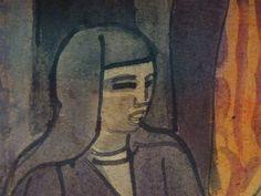 """BERNARD Emile,1895 - Femmes au Marché (Musée M.Denis) - Detail 02  -  TAGS / art painter peintre details détail détails detalles painting paintings peinture peintures """"peintures 19e"""" """"19th-century paintings"""" """"19th century"""" """"details of painting"""" """"details of paintings"""" tableaux peintures museum Fruit marché market femmes women boisson verre glass drink naïf repos rest"""